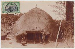 18867g CONGO BELGE - ETHNOGRAPHIQUE - Hutte Indigène - Katanga - 1909 - Carte Photo - Congo Belge - Autres