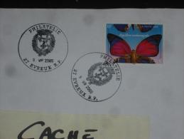 EVREUX RP PHILATELIE - EURE - CACHET ROND MANUEL SUR YT 3332 - FAUNE INSECTE PAPILLON - - Marcophilie (Lettres)