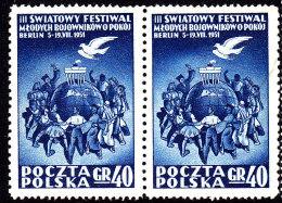 POLAND 1951 Fi 566 Pair Mint Never Hinged ** - Ungebraucht