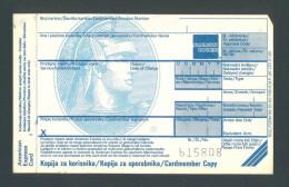 USA - CROATIA - SLOVENIA , AMERICAN EXPRESS CHARGE RECORD FORMS, UNUSED. RARE! - USA