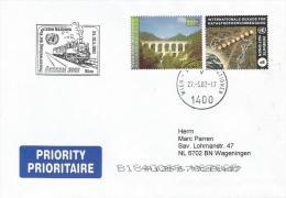 UN Vienna 2002 Currency Mix ATS/EUR Valid 1 March-30 June 2002 Train Semering Bahn Cover. Rare - Wien - Internationales Zentrum