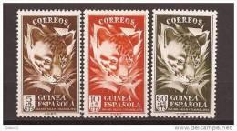 GUI306-L4087TANO.Guinea Guinee GUINEA ESPAÑOLA  DIA DEL SELLO.Geneta. 1951( Ed 306/8**) Sin Charnela LUJO - Sellos