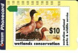 AUSTRALIA $10 DUCK BIRD BIRDS PAINTING STAMP ON CARD PRIVATE ISSUE AUS-124 SIMILAR TO NAURU MINT READ DESCRIPTION !! - Australia