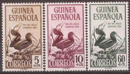 GUI318-L4088TAO.Guinea Guinee GUINEA ESPAÑOLA  DIA DEL SELLO.Aves 1952( Ed 318/20**) Sin Charnela LUJO - Sellos