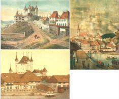 Thun - Mittelalterliche Ansichten  (3 Faltkarten)            2008 - BE Berne