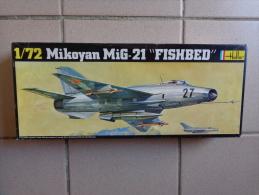 "Maquette Avion Militaire--en Plastique-mikoyan Mig-21 ""fishbed""-.1/72-ref Heller 252- - Airplanes"