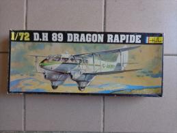 Maquette Avion Militaire--en Plastique-1/72 DH 89 DRAGON RAPIDE-.ref Heller 345- - Avions