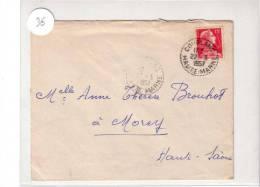 HAUTE MARNE - CACHET De BUREAU De DISTRIBUTION Sur  LETTRE De COUBLANC - 1957 - MULLER - Postmark Collection (Covers)