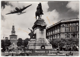 MILANO - LARGO CAIROLI - MONUMENTO A GARIBALDI - 1961 - AEREO - Milano