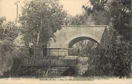Deux-sèvres - Ref A 490 - Mauzé - Pont Et écluse Des Quatre-pelles - Carte Bon état - - Mauze Sur Le Mignon