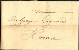 Belgique Lettre Précurseur Expédiée De Saint Denis Vers Hornu Datée Du 11 Octobre 1830 - 1830-1849 (Onafhankelijk België)