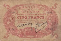 BANQUE DE LA REUNION .5 FRANCS  Type 1874  ROUGE .série J.194 - N° 919 - Reunion