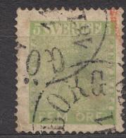 Sweden 1858 Mi#7b Yellow-green, Used