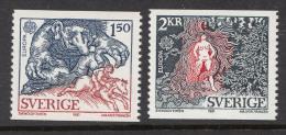 Sweden 1981 Europa-CEPT Mi#1141,1142, No Gum, No Hinge Mark