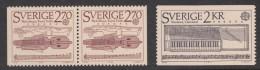 Sweden 1985 Europa-CEPT Mi#1328A, 1329 Dl,Dr, No Gum, No Hinge Mark
