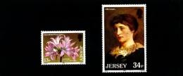 JERSEY - 1986  JERSEY LILIES  SET  MINT NH - Jersey