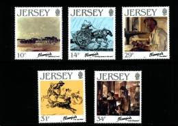 JERSEY - 1986  E. BLAMPIED  PAINTINGS  SET  MINT NH - Jersey