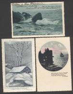 5539-N°. 3  CARTOLINE-POETI-G. D´ANNUNZIO-E. DE AMICIS-POESIA-FP - Writers
