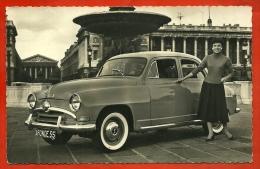 """CPSM Automobile """" La Production SIMCA """" L' Aronde Surbaissée 1955 - Berline Luxe  - Voiture Auto Car - PKW"""