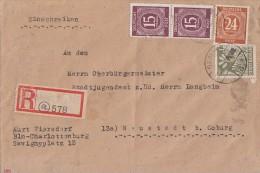 Gemeina. R-Brief Mif Minr.2x 921,925,sow. Zone Minr.7A Berlin 27.8.46 - Gemeinschaftsausgaben