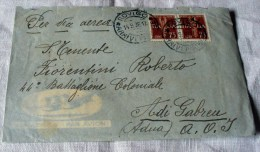 ITALY-ETHIOPIE 1937-AIR MAIL -COVER + LETTER -TIMBRE COLONIALE ENDA SELASIE - Etiopia