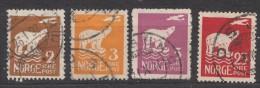 Norway 1925 Mi#109,110,111,115 Used