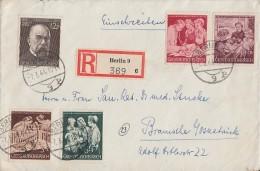DR R-Brief Mif Minr.864,869-872 Berlin 7.3.44 - Deutschland