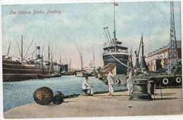 Vintage Postcard, The Victoria Docks, Bombay, India  (ref.#- 2757se) - Inde