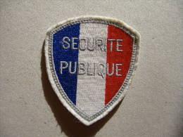 Ecusson De Bras SECURITE PUBLIQUE  - Police - Equipement