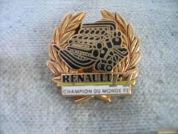 Pin´s Moteur RENAULT  F1, Champion Du Monde 92. Pin´s Couleur Dorée (ARTHUS BERTRAND). - Renault