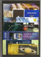 """2009 - EUROPE 2009 - ANNUAL THEME """"ASTRONOMY"""" - JOINT EMITTED BOOKLETS EUROPE 2009 - TOTAL BOOKLETS 22 - Colecciones"""