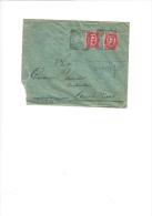 ITALIA 1892 - Sassone  38  (x 2) Su Lettera Da  Preganziol A Ascoli P. - 1878-00 Umberto I