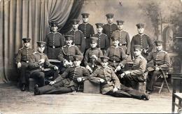WK1, Offiziersgruppe, Fotokarte Gelaufen 1916 Nach Warschau - Regimente