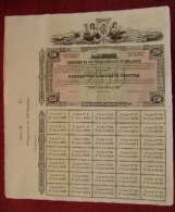PRECIOSA ACCION DE LA COMPAÑIA DE FERROCARRILES DE MALLORCA - OBLIGACION DE 250PTS - Ferrocarril & Tranvías