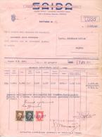 SAIDA SOCIETA AGRICOLA INDUSTRIALE DEGLI ALCOLI FACTURA FATTURA INVOICE NRO 85 PADOVA 7 APRILE 1944 STABILIMENTO DI LUGO - Italië