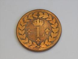 1 Décime à L Couronnée - Louis XVIII - BB - Blocus De Strasbourg. - Francia