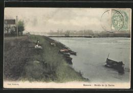 CPA Bezons, Bords De La Seine - Bezons