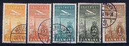 Denmark, 1934 , Mi 217 - 221  Used - 1913-47 (Christian X)