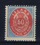 Iceland: 1892 Mi 16 A MH/* - 1873-1918 Deense Afhankelijkheid