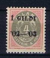 Iceland: 1902  Mi 25B  MH/* - 1873-1918 Deense Afhankelijkheid