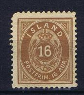 Iceland: 1876  Mi 9 A  MH/* - Nuevos