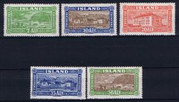 Iceland: 1925  Mi 114 - 118   MH/* - 117 = MNH/** - 1918-1944 Autonoom Bestuur