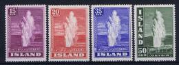 Iceland: 1938  Mi 193-196  MH/* - 1918-1944 Autonoom Bestuur