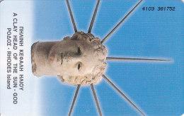 Greece, X0434, God Sun, 2 Scans. - Greece