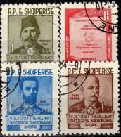 Erforschung Der Sprache 1960 Albanien 599/2 O 4€ Sprachforscher Pasha Vreto Frasheri Statut History Set Of Shqiperia - Langues