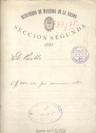 """MINISTERIO DE HACIENDA - AÑO 1885 - SUSCRIPCION DEL DIARIO """"EL PUEBLO"""" AÑO 1885 BUENOS AIRES - Historical Documents"""