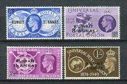 Kuwait 1949. Yvert 91-94 UPU ** MNH - Kuwait