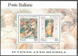 Italy 2000 Art Fresco Michel Bl.25 MNH (**) - 6. 1946-.. Republic
