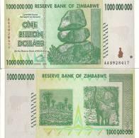 Zimbabwe P-83, 1 Billion Dollars, Balancing Rock /  Botanical Garden, Elephant - Zimbabwe