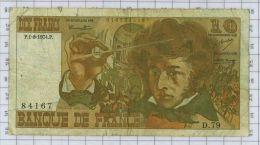 10 Francs Berlioz, Ref Fayette 63-6, état TB - 10 F 1972-1978 ''Berlioz''